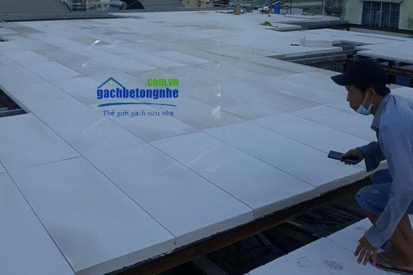 Sàn bê tông nhẹ thi công bằng tấm panel alc bê tông nhẹ Viglacera tại Bắc Ninh, Bắc Giang