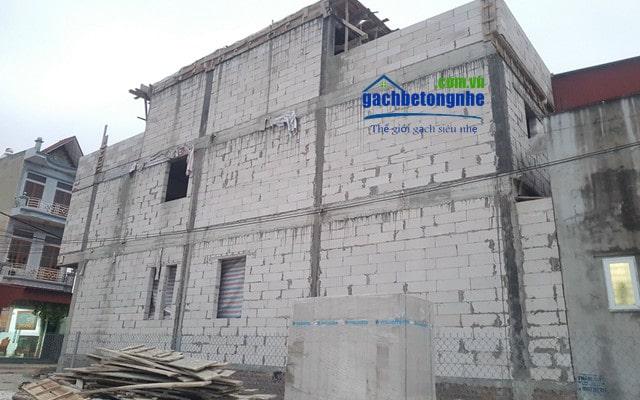 Công trình xây gạch siêu nhẹ tại Lê Chân Hải Phòng
