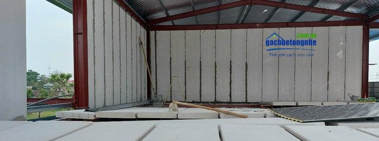 Tấm panel bê tông khí Hoàng Nền ALC