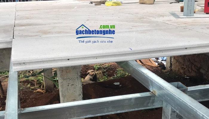 Tấm sàn bê tông nhẹ khí chưng áp của Viglacera và Eblock tại Hà Nội và TP HCM