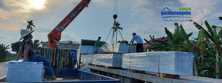 Tấm panel ALC Viglacera lắp nhà khung thép ở Hải Phòng, Quảng Ninh