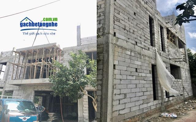 Công trình xây gạch bê tông khí chưng áp Hải Phòng