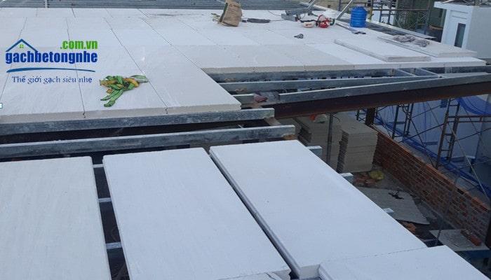 Thi công lắp tấm bê tông nhẹ làm sàn bằng tấm panel alc tại Hải Phòng, Hưng Yên, Hà Nội