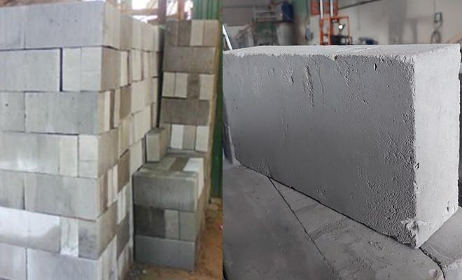 sản phẩm gạch bê tông bọt thông thường không chưng áp