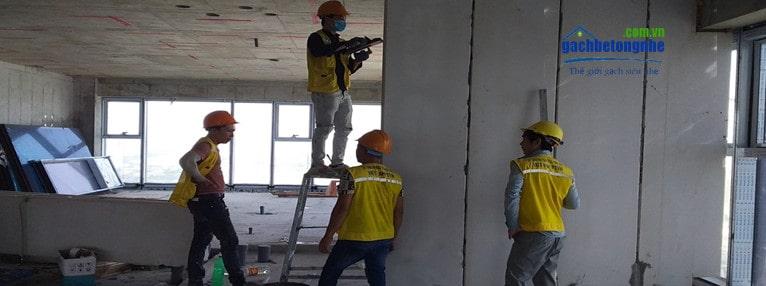 Tấm panel bê tông nhẹ lắp nhà tiền chế, nhà thép ở Quảng Ninh