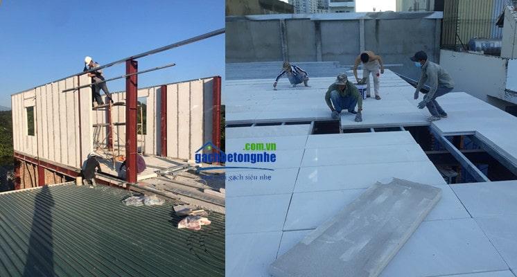 Lắp tấm panel alc Viglacera tại công trình ở thành phố Hải Phòng