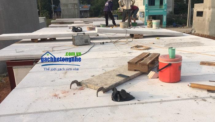 Thi công lắp đặt tấm sàn bê tông nhẹ tại công trình ở Hải Phòng, Hà Nội, Quảng Ninh