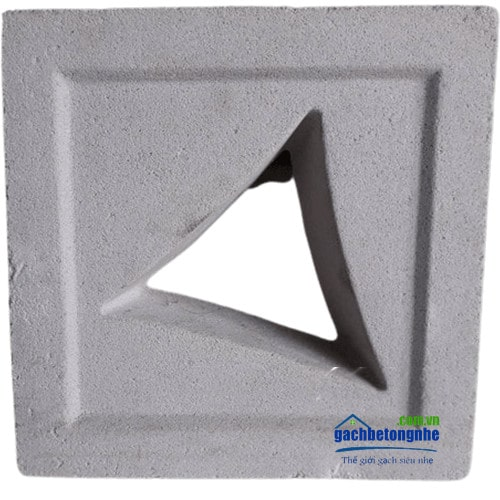 Gạch xi măng thông gió vát tam giác