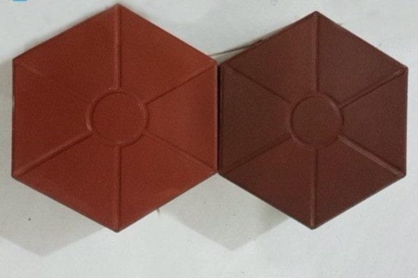 Mẫu gạch vỉa hè hình lục giác