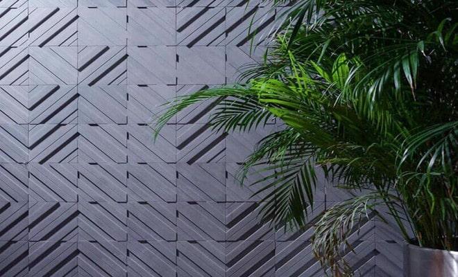 Gạch trang trí 3D chất liệu bằng bê tông