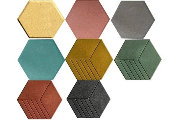 Các mẫu gạch bê tông lục giác lát vỉa hè