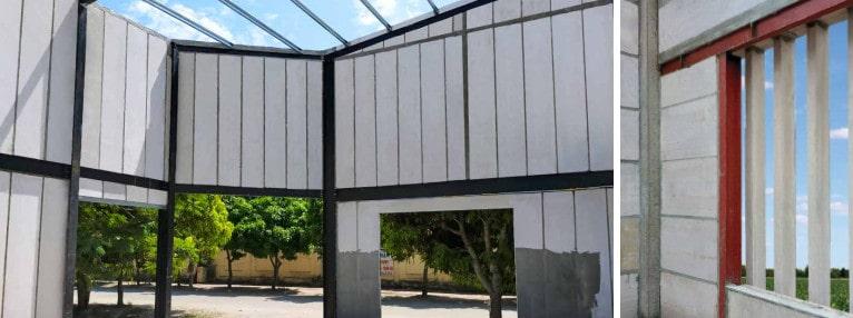 Xây nhà bằng tấm panel alc viglacera bê tông khí