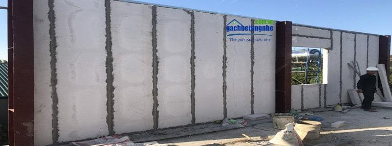 Tấm tường bê tông nhẹ đúc sẵn nhà thép
