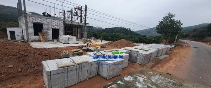 Xây nhà bằng gạch siêu nhẹ tại Hải Phòng, Hà Nội, Quảng Ninh.