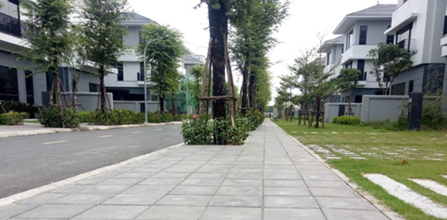 Gạch bê tông giả đá tại khu đô thị