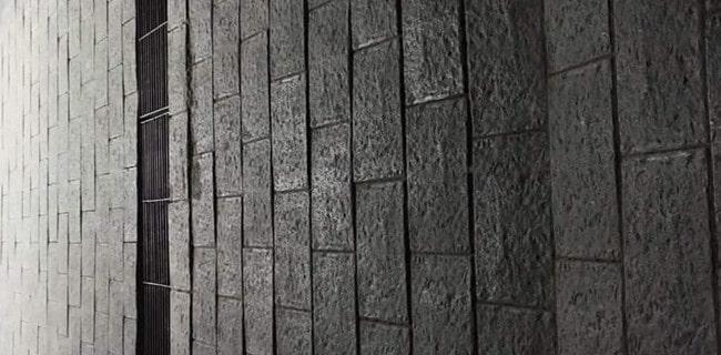Phối cảnh gạch bê tông tự chèn giả đá