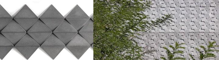 Gạch bê tông trang trí   Tấm bê tông trang trí 3D   Các mẫu thịnh thành