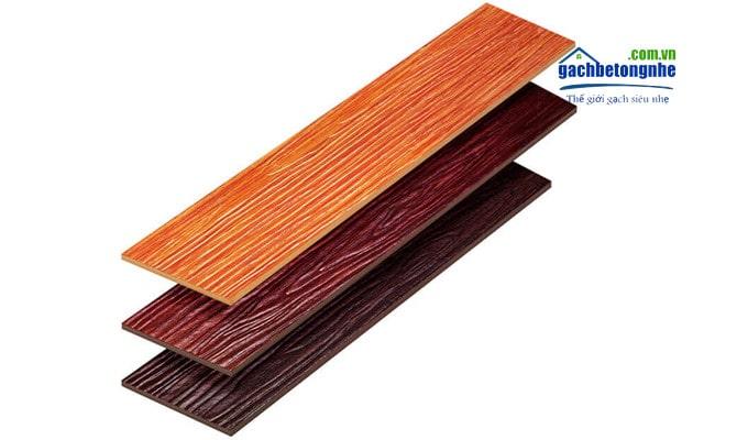 Các mẫu gạch bê tông giả gỗ, các loại vân gỗ và màu sắc khác nhau