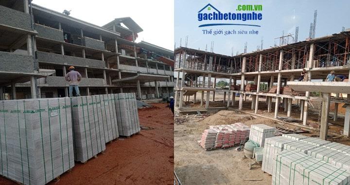 Gạch nhẹ E-block tại Đà Nẵng giá rẻ, công trình tại Đà Nẵng xây gạch E-block
