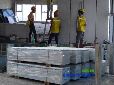 Lắp ghép tấm panel viglacera alc tại công trình