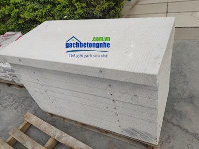 Tấm panel bê tông đúc sẵn ALC Viglacera chiều dày 7.5cm có và không có cốt thép