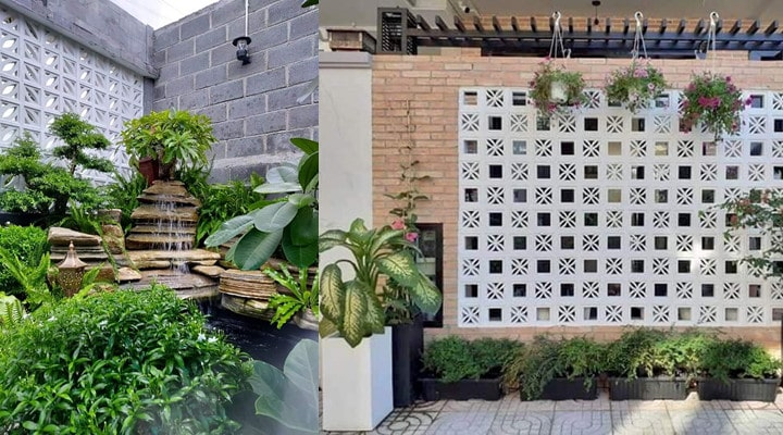 Tường gạch trang trí block thông gió