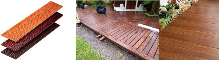 Tấm bê tông giả gỗ | Gạch bê tông giả gỗ các loại lựa chọn