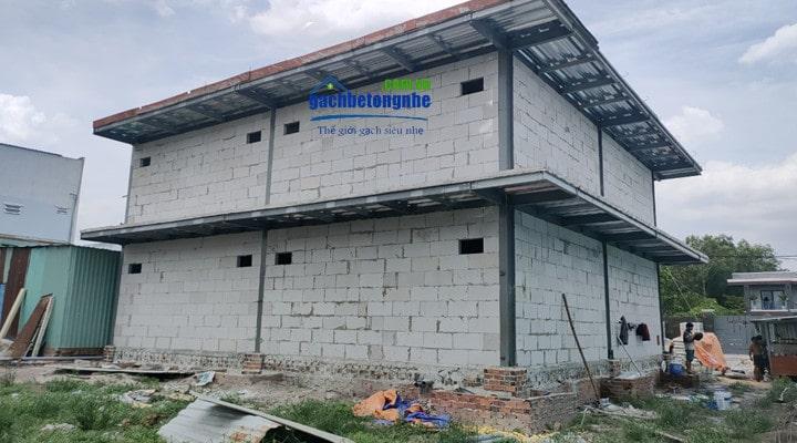 Xây nhà bằng gạch chống cháy siêu nhẹ bê tông khí chưng áp