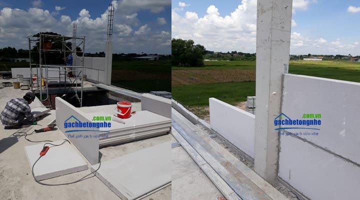 Xây nhà lắp ghép bằng tấm tường bê tông nhẹ ALC