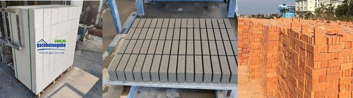 So sánh trọng lượng gạch siêu nhẹ aac | gạch block | gạch tynel