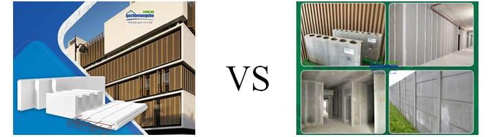 Tấm tường bê tông nhẹ light wall ALC vs Tấm panel Acotec
