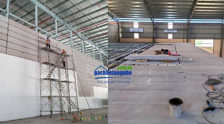 Công trình sử dụng tấm panel lắp ghép tại Thanh Hóa