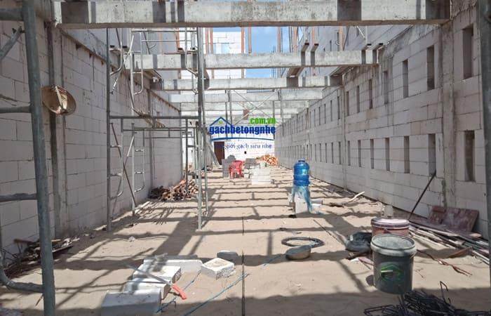 Công trình xây bằng gạch aac siêu nhẹ tại Cần Thơ