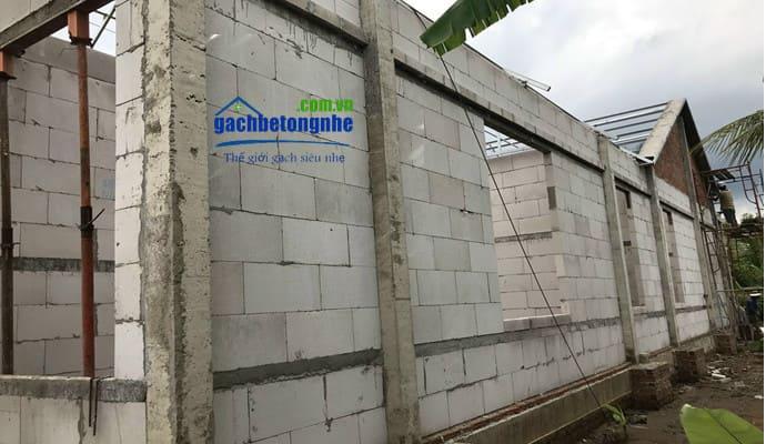 Công trình xây gạch siêu nhẹ Vĩnh Phúc nhanh nhất hiện nay