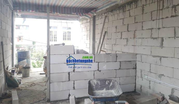 Xây nhà bằng gạch nhẹ AAC bê tông ở Phú Thọ
