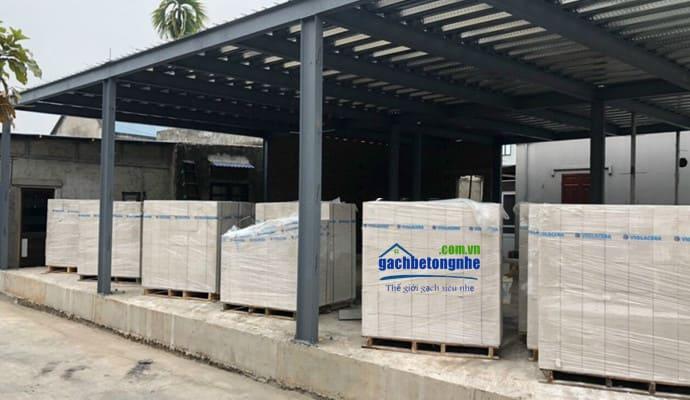 Gạch AAC bê tông siêu nhẹ xây nhà khung thép ở Phú Thọ
