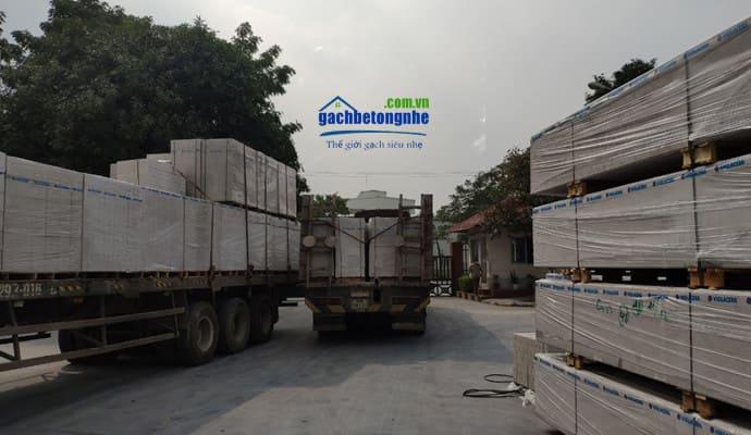Gạch siêu nhẹ được sản xuất tại nhà máy cấp về các tỉnh Phú Thọ
