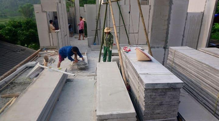 Lắp dựng tấm bê tông EPS eurowall