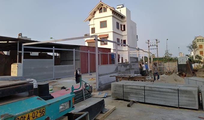 Thi công lắp dựng tấm tường bê tông acotec