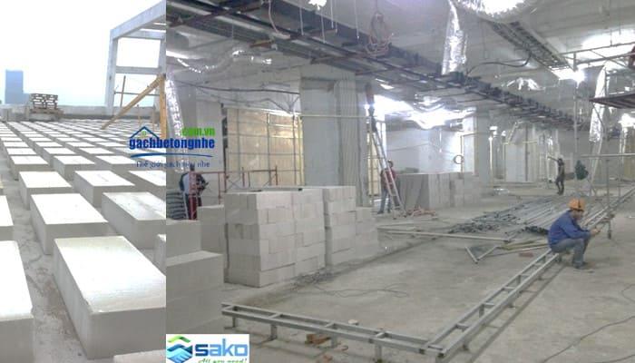 Gạch siêu nhẹ tôn nền dùng nâng nền sàn âm, nâng nền nhà