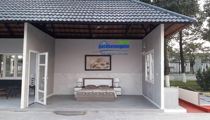 Làm nhà bằng bê tông khí chưng áp tấm panel ALC