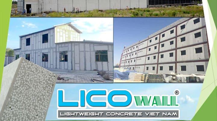 Tấm bê tông lắp ghép nhà Lico Wall