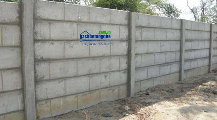 Tấm bê tông xây hàng rào không trát