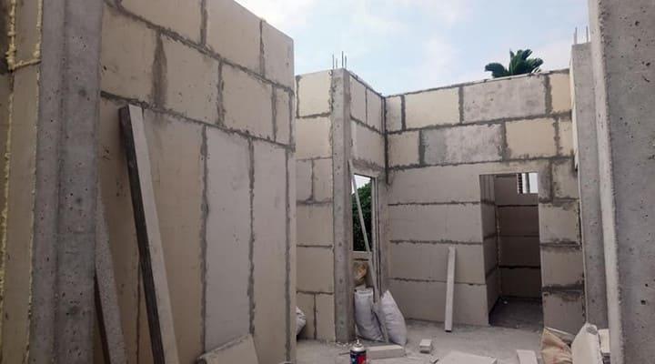 Lắp ghép tấm tường bê tông xốp EPS