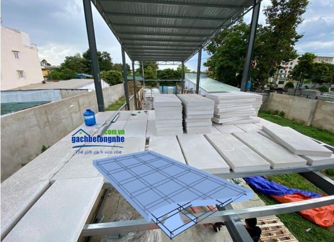 Tấm bê tông nhẹ đúc sẵn ALC Viglacera tại công trình sàn bê tông siêu nhẹ ở Hà Nội
