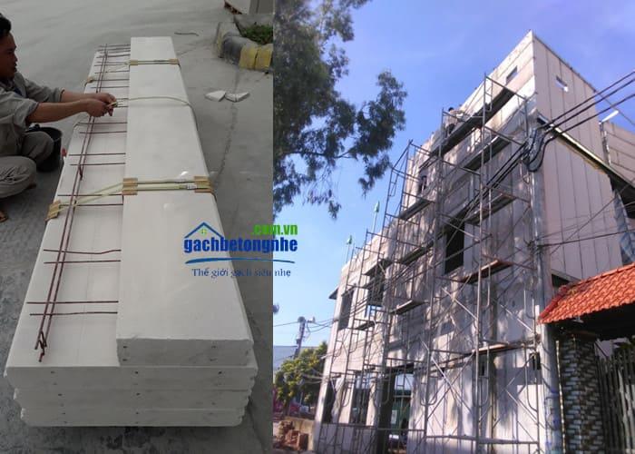 Xây nhà bằng tấm bê tông khí chưng áp ALC AAC