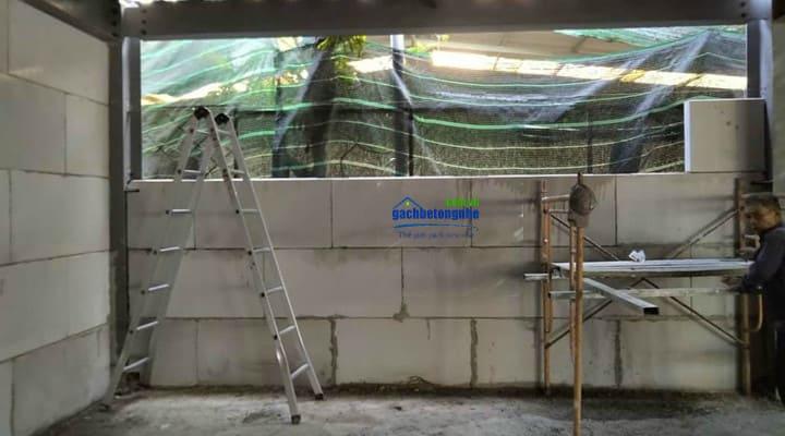 Xây tường bê tông nhẹ lắp ghép tại Thanh Hóa