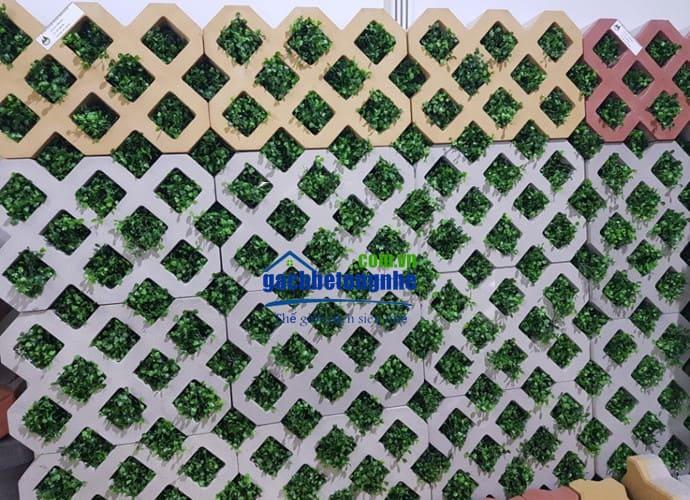 Các mẫu gạch block trồng cỏ 8 lỗ tại TPHCM