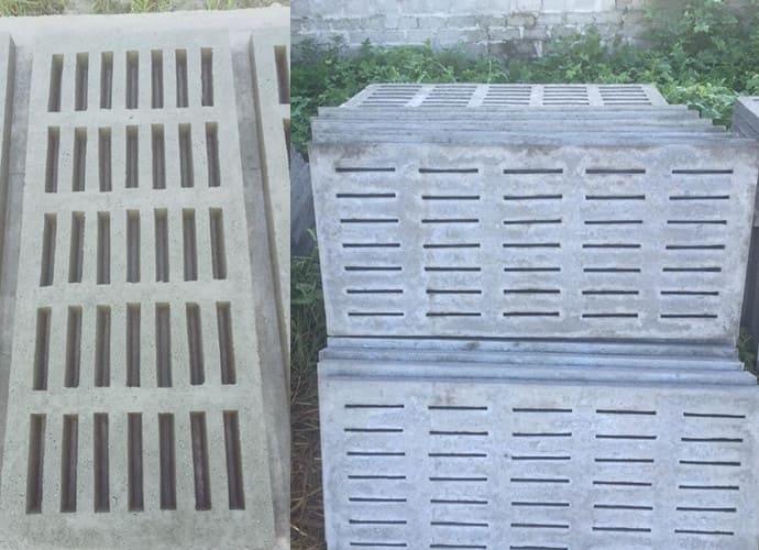 Tấm đan bê tông chuồng heo lắp lên kết cấu sàn chuồng nuôi lợn