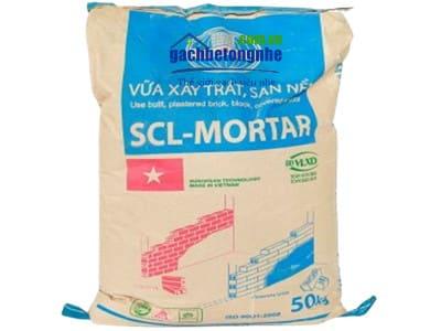 Vữa khô trộn sẵn cường độ M50, M75, M100 chính hãng SCL - Motar